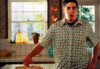 Jim ( Jason Biggs ) gets the wrong idea about a fresh-baked pie in Universal's American Pie