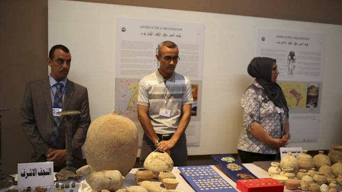 Recovered artifacts are displayed at the National Museum of Iraq in Baghdad