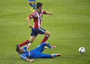 Bernier's goal gives Impact tie with Chivas USA