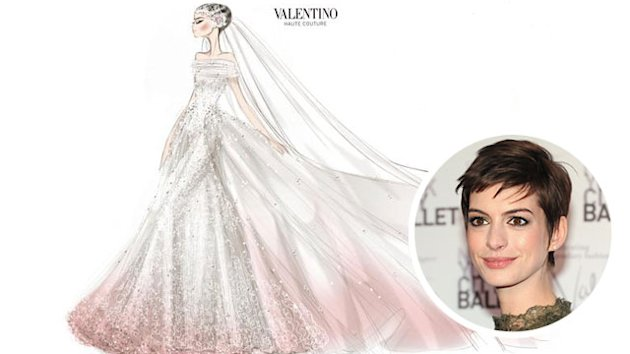 Anne Hathaway's Valentino Wedding Dress Sketch