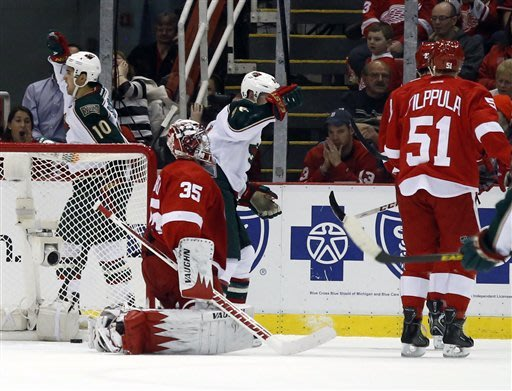 Jimmy Howard wanted to flip the bird there!