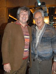 In this photo taken on Nov. 23, 2004 Vittorio Missoni, left, and his father Ottavio smile in Milan, Italy. The search resumed Saturday, Jan. 5, 2013 for a small plane that has disappeared off the Venezuelan coast with six people aboard, including Vittorio Missoni, a top executive in Italy&#39;s Missoni fashion house, officials said. Vittorio Missoni, 58, is the director general of the iconic brand and the eldest son of the company&#39;s founder. Flying with him on Friday&#39;s flight from Venezuela&#39;s Los Roques resort archipelago to Caracas, was Missoni&#39;s wife, Maurizia Castiglioni, two Italian friends of the couple, and a crew of two Venezuelans. (AP Photo/Livio Valerio, Lapresse)