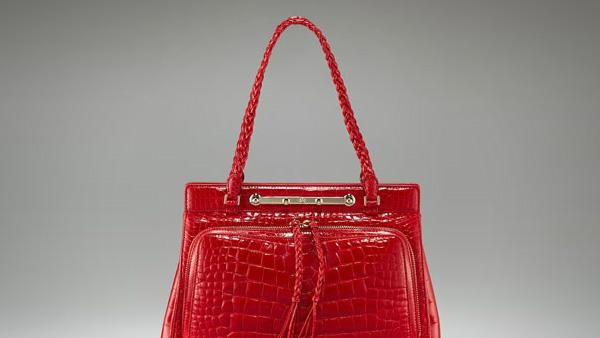Valentino Demetra Alligator Satchel