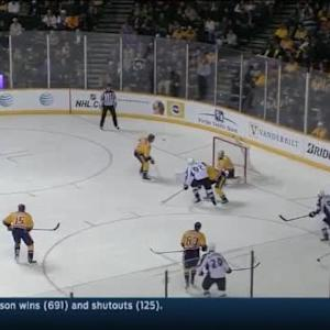 Carter Hutton Save on Gabriel Landeskog (07:52/2nd)