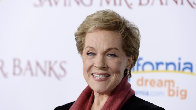 "Julie Andrews attends the film premiere of ""Saving Mr. Banks"" in Burbank"