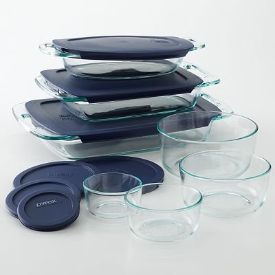 6. Pyrex Cooking Solved 14-pc. Glass Bake N' Store Set