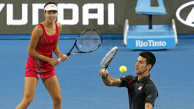 Novak Djokovic and Ana Ivanovic Hopman Cup