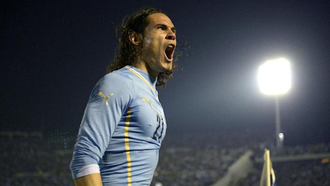 Uruguay downs Slovenia 2-0 in World Cup warm-up