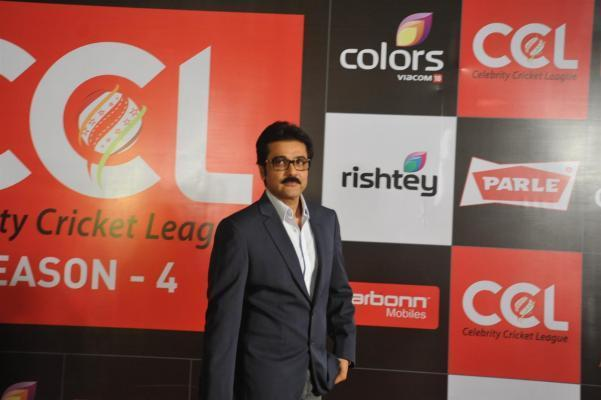 Actor Prosenjit Chatterjee during the media interaction for the upcoming Celebrity Cricket League 4 in Mumbai on December 20, 2013. (Photo: IANS)