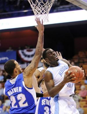 Seton Hall beats URI 60-55 in Hall of Fame tourney