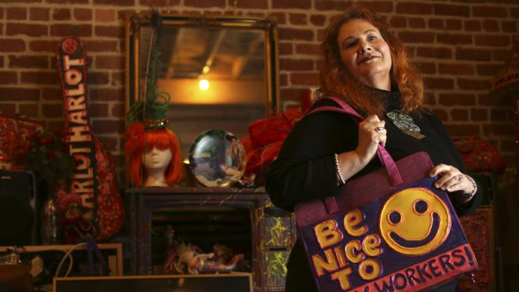 Carol Leigh, a long-time sex worker and advocate for decriminalizing prostitution, poses for a photograph in her office in San Francisco