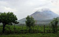 The San Cristobal volcano seen from Chinandega, Chonco sector, Nicaragua, on September 9. Nicaragua boosted its responses to volcanic activity in the northwestern region Saturday, as the San Cristobal volcano acted up for the second time in a week