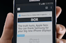 Apple's big iPhones are a big imitation, Samsung says subtly in new ad
