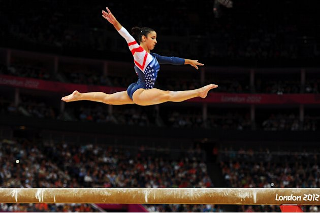 Aly Raisman competes in the balance beam.