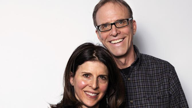 """Producer Amy Ziering, left, and director Kirby Dick, from the film """"The Invisible War,"""" pose for a portrait during the 2012 Sundance Film Festival on Sunday, Jan. 22, 2012, in Park City, Utah. (AP Photo/Victoria Will)"""