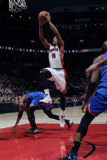 Johnson leads Raptors past slumping 76ers 90-72