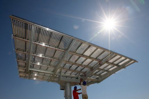 &lt;p&gt;Workers checking on a solar panel at a field in Hami, China&#39;s farwest Xinjiang region, in August 2012. Beijing on Thursday urged the United States to rescind hefty anti-dumping and anti-subsidy duties on China&#39;s solar-cell makers amid an intensifying row in the sector dominated by Chinese companies.&lt;/p&gt;