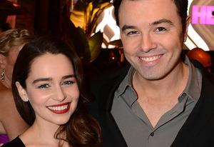 Emilia Clarke, Seth MacFarlane | Photo Credits: Jeff Kravitz/FilmMagic