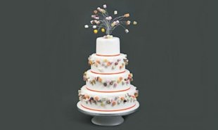 Retro Candy Wedding Cake
