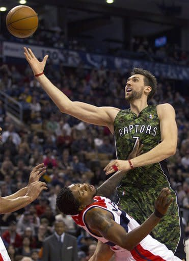 Bargnani scores 18 points as Raptors beat Wizards