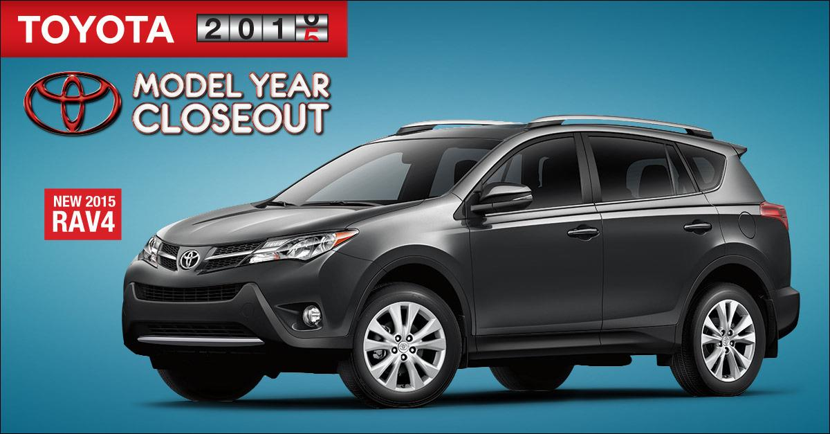 $750 cash back on new 2015 Rav4