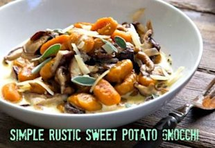 5-Ingredient Dinner: Simple Rustic Sweet Potato Gnocchi