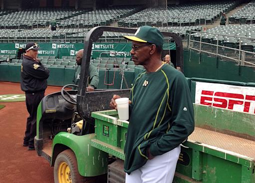 Coach Ron Washington is thrilled to be back in A's uniform