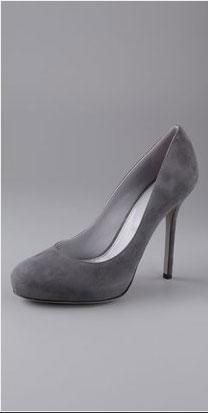 Sergio Rossi Tracy Suede Pumps on Hidden Platform - $590.00