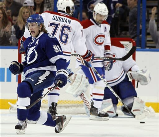 Lecavalier has tiebreaking goal in Lightning win