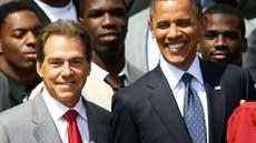 Nick Saban and Barack Obama