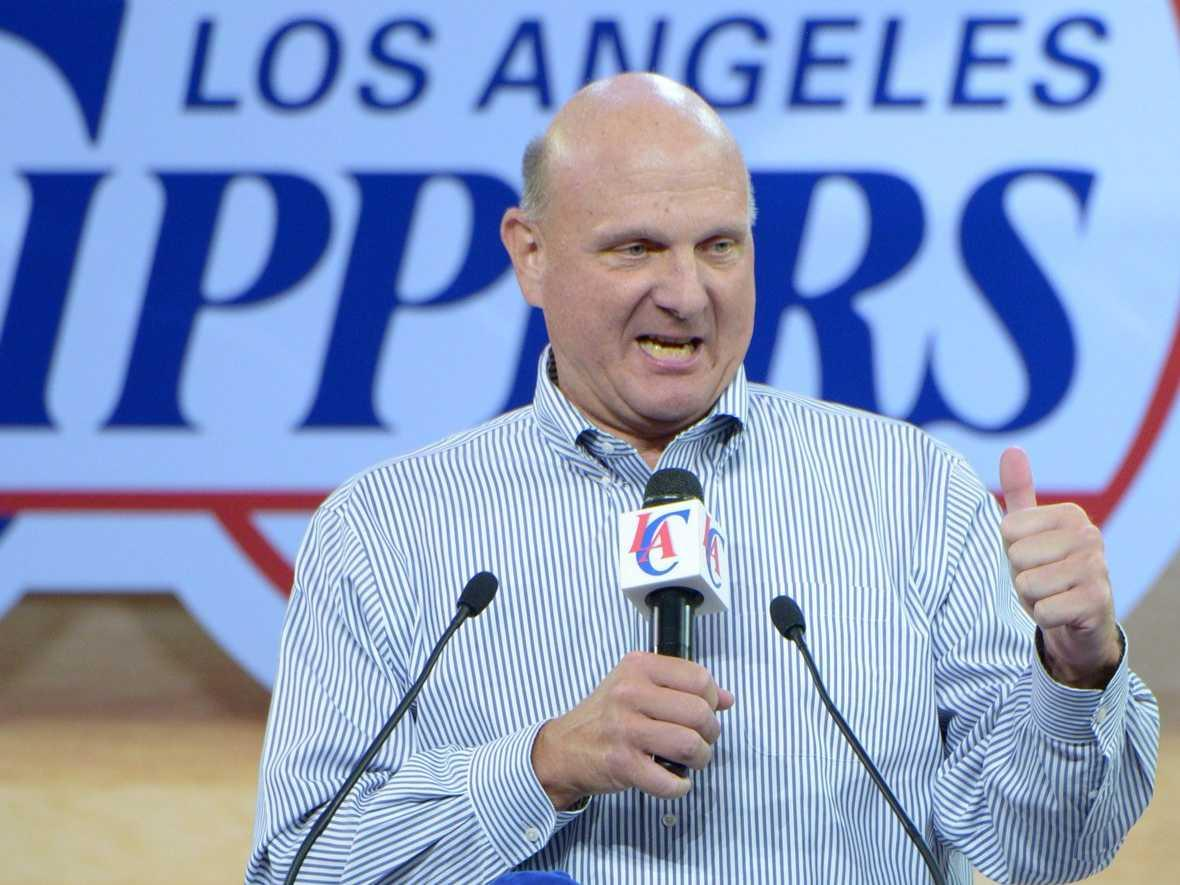 Steve Ballmer turned the Lakers' locker room into his owner's lounge for the playoffs