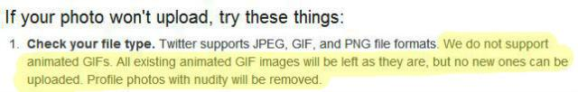 Twitter Blocks Animated GIFs in Profile Pics