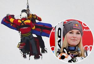 Helicopter transport, Lindsey Vonn | Photo Credits: Fabrice Coffrini/AFP/Getty Images; Stanko Gruden/Agence/Getty Images Sport