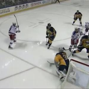 Brad Richards scores from a sharp angle