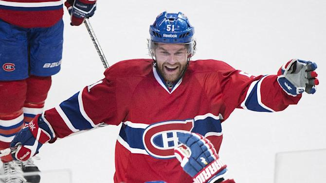Gionta's OT goal helps Canadiens beat Rangers 1-0