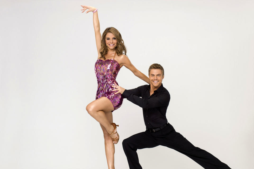 "Maria Menounos teams with professional dancer Derek Hough on Season 14 of ""Dancing With the Stars."""