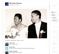 'The veggies taste even better when you grow them yourself' comments Michelle Obama on a photo in her 'Around the White House' board on Pinterest