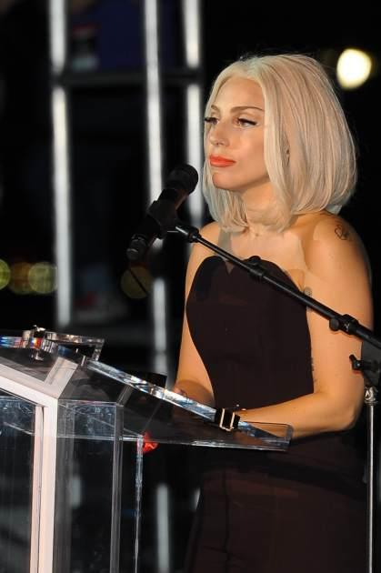 Lady Gaga speaks at The Rally during NYC Pride 2013 on June 28, 2013 in New York City -- Getty Images