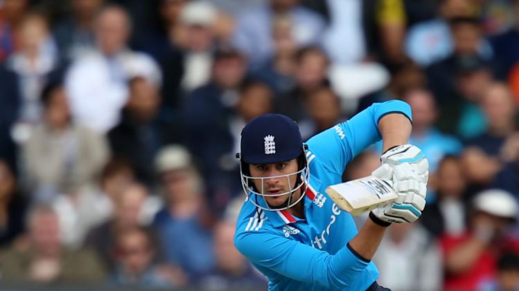 England's Alex Hales during their One Day International cricket match against India at the Trent Bridge cricket ground in Nottingham, England, Saturday, Aug. 30, 2014. (AP Photo/Simon Cooper, PA Wire) UNITED KINGDOM OUT - NO SALES - NO ARCHIVES