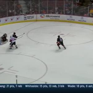 John Gibson Save on Jean-Gabriel Pageau (03:11/1st)