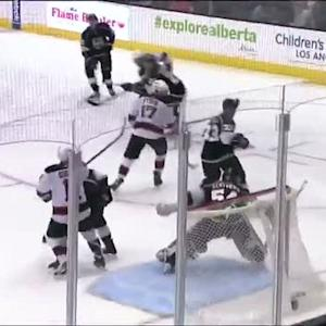 Ryan Carter puts backhander behind Scrivens