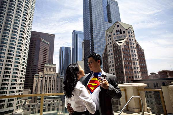Superman Engagement Photos