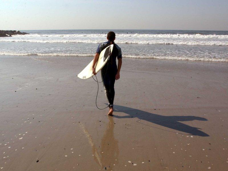 rockaway beach surfer