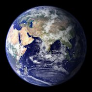 This &quot;blue marble&quot; image is the most detailed true-color image of the entire Earth to date.