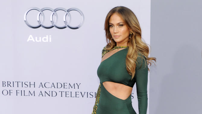 Jennifer Lopez poses at the inaugural BAFTA Brits to Watch 2011 event at the Belasco Theater in Los Angeles, Saturday, July 9, 2011. Prince William and Kate, the Duke and Duchess of Cambridge, attended the event as part of their three-day visit to California. (AP Photo/Chris Pizzello)