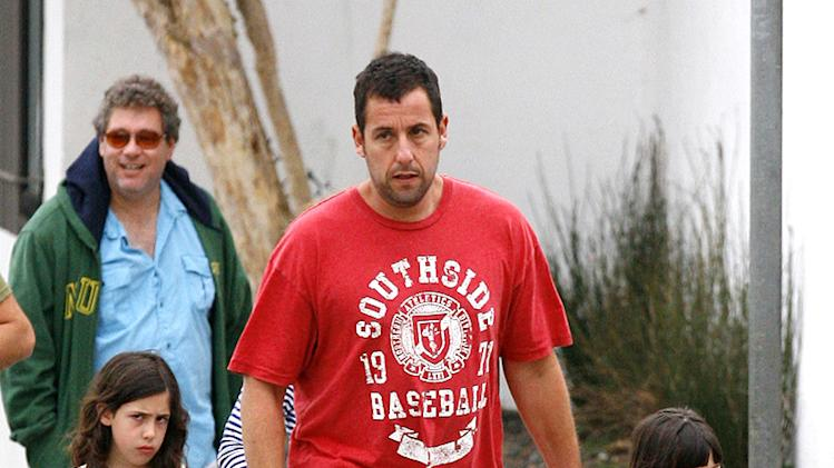 Adam Sandler & Family Out For Dinner