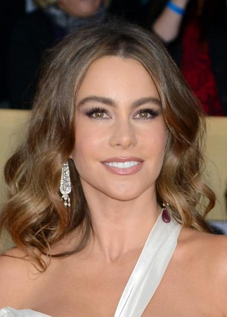 Sofia Vergara arrives at the 19th Annual Screen Actors Guild Awards held at The Shrine Auditorium on January 27, 2013 in Los Angeles, California --