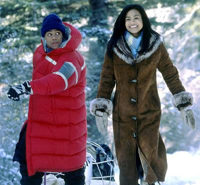Cuba Gooding Jr. and Joanna Bacalso in Disney's Snow Dogs