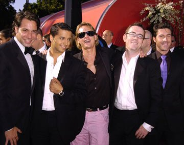 Cast of &quot;Queer Eye For The Straight Guy&quot; Thom Filicia, Jai Rodriguez, Carson Kressley, Ted Allen, and Kyan Douglas