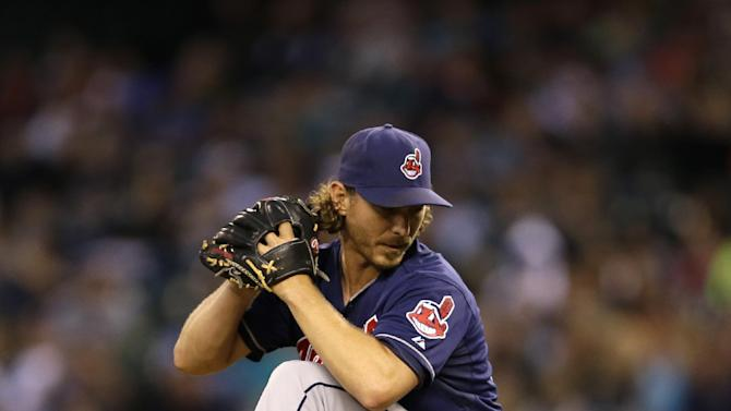 Indians' Tomlin 1-hits Mariners in 5-0 victory
